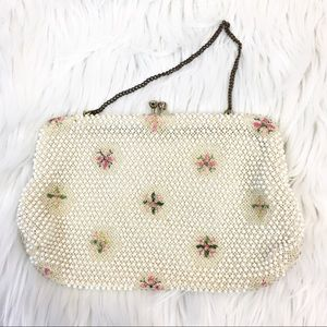 Vintage 50s Corde-Bead Evening Bag